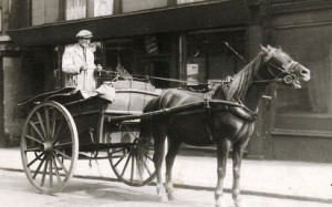 Mr Shone with cart