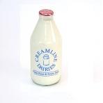 1 pint organic skimmed milk (glass)